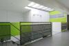 Bureaux de consultation : une verrière plate permet à la lumière de pénétrer au centre du bâtiment