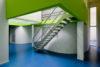 Bureaux de consultation : escalier d'accès à la mezzanine