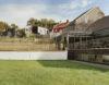 Composition contextuelle des terrasses côté jardin
